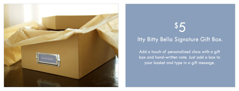 Itty Bitty Bella Signature Gift Box