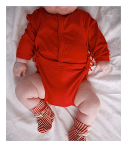 Red Organic Cotton Bodysuit