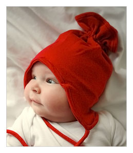 Red Organic Cotton Hat