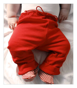 Red Organic Cotton Pants